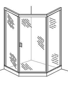 Corner shower door