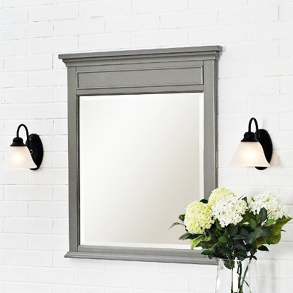 Gray Framed Bathroom Mirrors