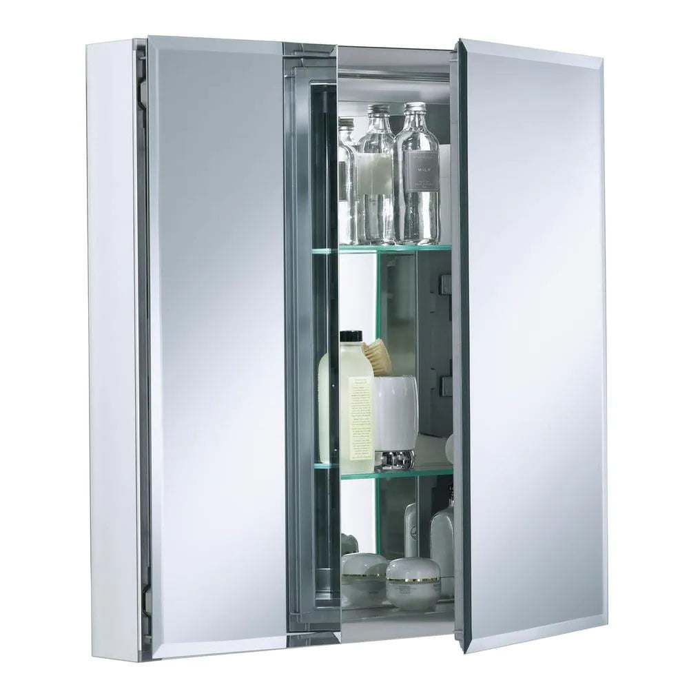 Recessed medicine cabinets with two doors