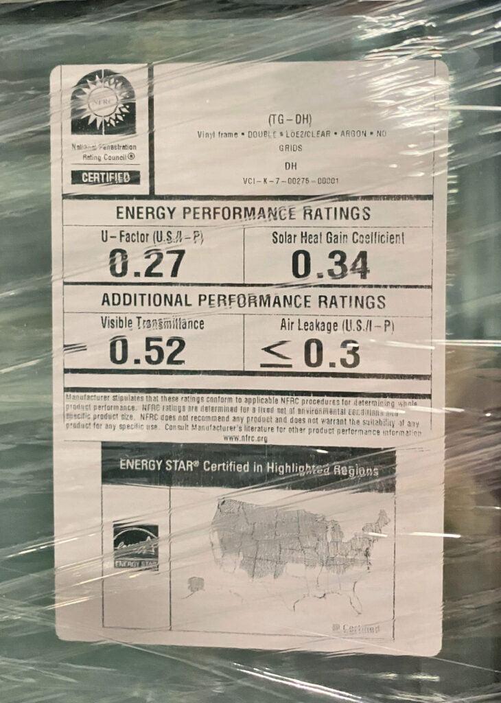 SHGC Solar heat gain coefficient
