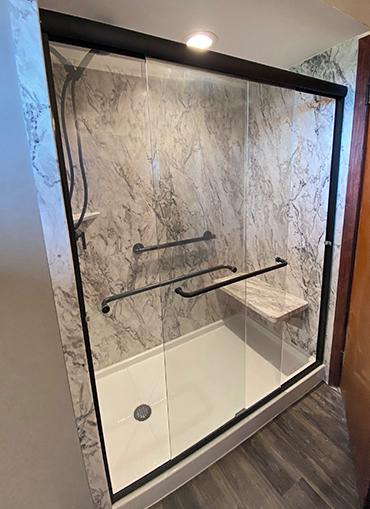 Small Bathroom with Sliding Door