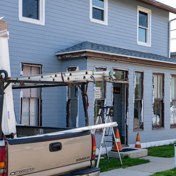 Historic Window Replacement while renovating a historic home