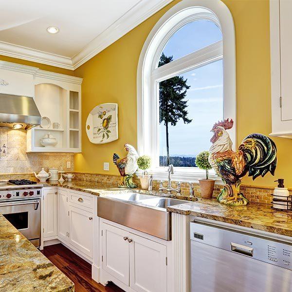 Architectural Windows in Kitchen