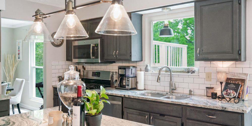 casement window in kitchen