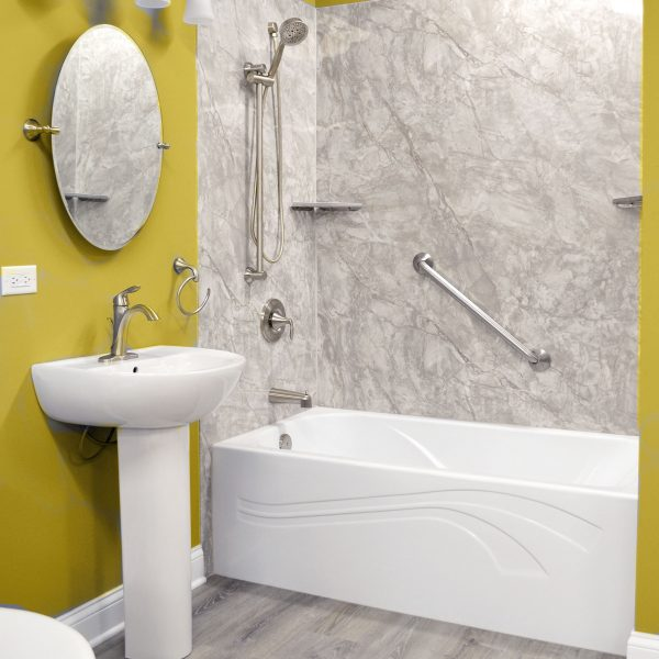 Yellow Bathroom Remodel