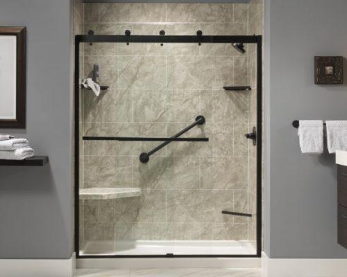 Matching Grab Bars Shower Remodeling