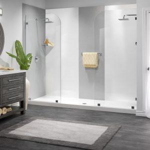 Dual Side Walk in Shower